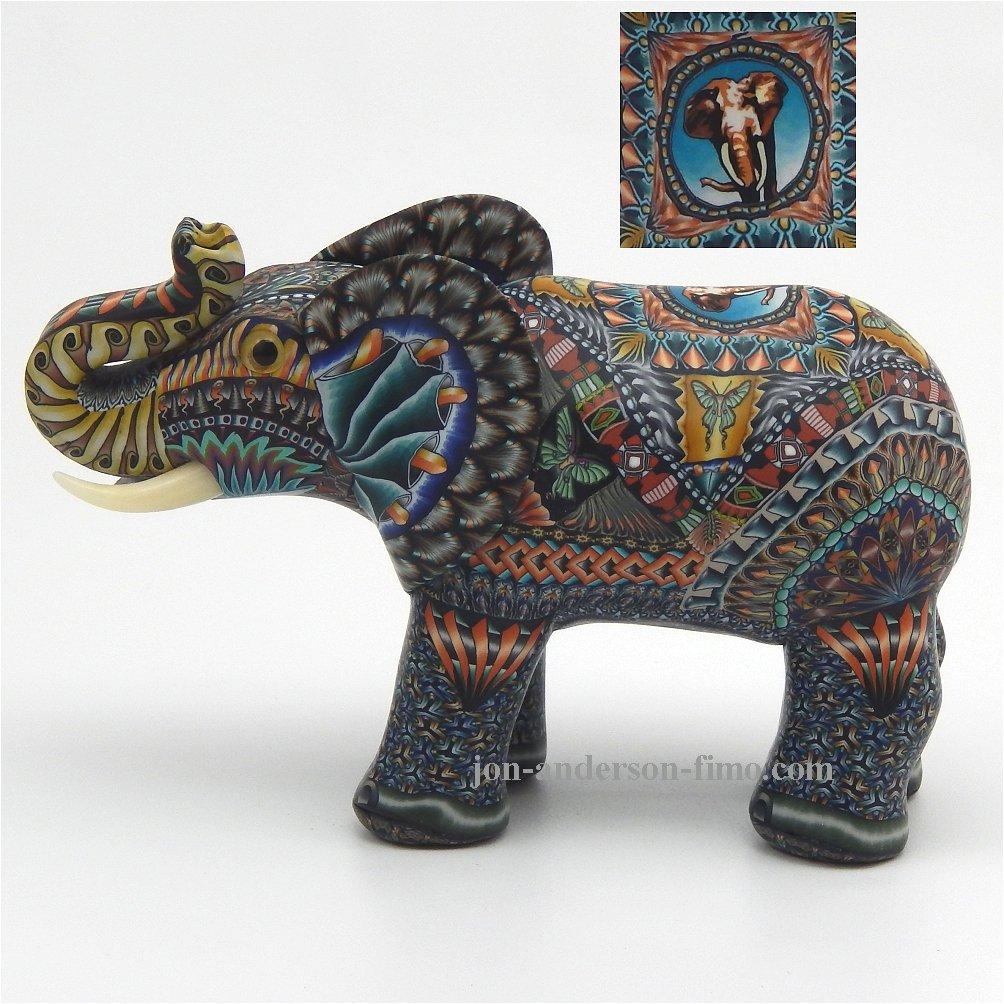 Assez Jon Anderson Fimo Creations Fimo Elephant HH11